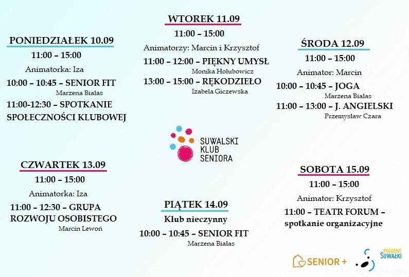 plan zajęć 10.09 - 15.09