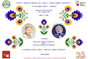"""Zapraszamy na koncert pn. """"Muzyczne głębiny jez. Hańcza – pieśni Eugenii Zaśkiewicz"""""""