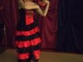 4. Urodziny Suwalskiego Klubu Seniora animatorka Monika tańczy flamenco, 21.02.2020 r., fot. Zofia Jakubowska